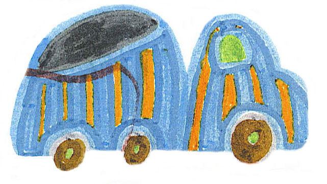 camion petit bleu